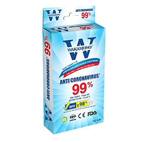 KHẨU TRANG Y TẾ WAKAMONO - COMBO 5 hộp - (4 Lớp, 50 cái)