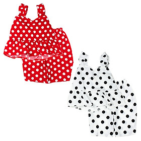Đồ bộ mặc nhà siêu mát chấm bị cho bé gái 0.5-6 tuổi từ 8 đến 22 kg 04192-04193