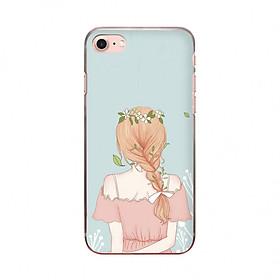 Ốp lưng cho iPhone 8  PHÍA SAU MỘT CÔ GÁI_1 in theo chất liệu