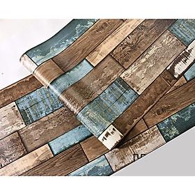 10m Giấy dán tường giả gỗ M0090