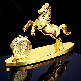 Đồng hồ ngựa trang trí ô tô