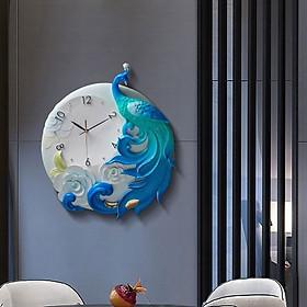 Đồng Hồ Treo tường Công Xanh Hoàng Gia DHG-BLU50CM , làm từ hỗn hợp bột gốm phù điêu cao cấp, sang trọng, máy siêu tĩnh thích hợp cho mọi không gian phòng của bạn kể cả phong cách hiện đại hay tân cổ điển.