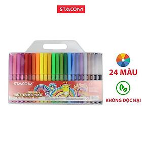 Bút lông màu Stacom 24 màu FP124C