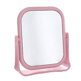 Double-sided desktop mirror dormitory desktop rotatable student makeup small mirror desktop portable dressing princess
