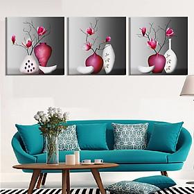 Tranh Canvas treo tường nghệ thuật | Tranh bộ nghệ thuật 3 bức | HLB_192
