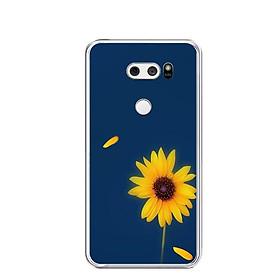 Ốp lưng dẻo cho điện thoại LG V30 - 0327 SUNFLOWER06 - Hàng Chính Hãng