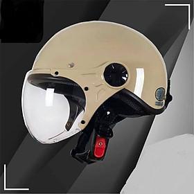 Mũ Bảo Hiểm Nửa Đầu Có Kính SUNDA 136A