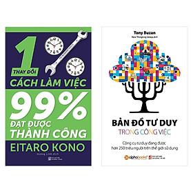 Combo Sách Kỹ Năng Làm Việc: Thay Đổi 1% Cách Làm Việc - Đạt Được 99% Thành Công + Bản Đồ Tư Duy Trong Công Việc
