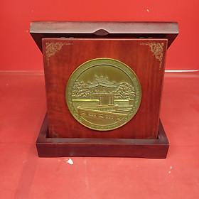 Đĩa hộp gập quà tặng Khuê Văn Các 10cm