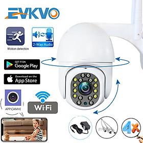 EVKVO - Theo dõi thông minh AI - Tầm nhìn ban đêm đầy đủ màu sắc - 4X Zoom kỹ thuật số - Camhi Pro UHD 5MP Waterproof Wireless Outdoor PTZ IP Camera CCTV WIFI Home Security Surveillance CCTV Camera IP Two-Way Audio P2P Motion Detection Alarm