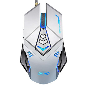MageGee G10 Wired Backlit Gaming Mouse E-sports Peripheral Macro Programming Gaming Mouse USB Computer Notebook Universal Mouse Silver