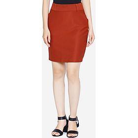 Chân váy nữ VDS1421DM1 đỏ mận