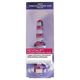L'Oreal Paris Revitalift Filler [+Hyaluronic Acid] 7 Day Replumping Ampoules 7 x 1.3ml