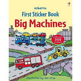 Usborne First Sticker Book Big Machines (bind-up)