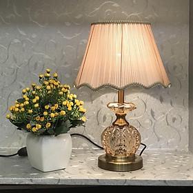 Đèn bàn hiện đại - đèn ngủ để bàn pha lê - đèn trang trí phòng ngủ pha lê - MB6912 - công tắc 2 chế độ led