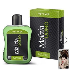 Nước dưỡng sau cạo râu Malizia Vetyver After Shave 100ml tặng kèm móc khóa