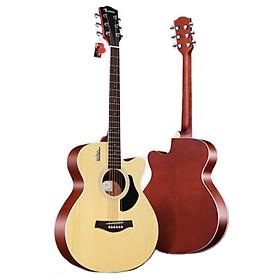 Đàn Guitar Acoustic Rosen G11 Màu Gỗ Dáng A (Size 40) - Phân Phối Chính Hãng - Kèm móng gảy DreamMaker