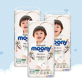[COMBO 3 BỊCH] Bỉm quần Moony natural XL 32