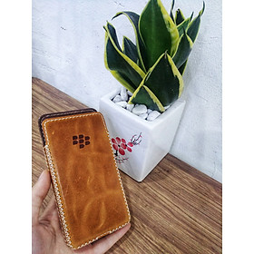 Bao Da Rút Blackberry Z30 Holster Da Bò Thật Màu Vàng Bò Cá Tính