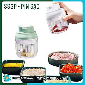 Máy Xay Mini Cầm Tay SSGP Pin Sạc Công Suất 45W - Xay thịt, Rau, Củ Quả Đa Năng 250ml