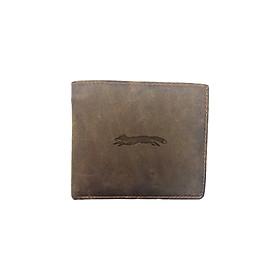 Ví Da Sáp Cao Cấp Có Ngăn Đựng Thẻ Handmade Khắc Hình Leices Tershire Fox 1