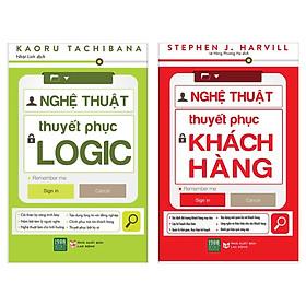 Combo Kỹ Năng Làm Việc Bán Chạy: Nghệ Thuật Thuyết Phục Logic + Nghệ Thuật Thuyết Phục Khách Hàng (Bộ 2 Cuốn Cẩm Nang Đắc Lực Trong Giao Tiếp / Tặng Kèm Bookmark Happy Life)