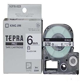 Băng mực in nhãn Tepra cỡ 6mm dùng cho máy KING JIM TEPRA PRO SR-R170V / SR530 / SR970 / SR5900P - HÀNG CHÍNH HÃNG