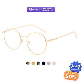 Gọng kính cận mắt tròn Elmee E2887 - kính mắt to dành cho cả nam và nữ, có cắt mắt cận