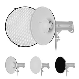16 Inch Beauty Dish Studio Photography Reflector Diffuser with Honeycomb Soft Cloth for Bowens Mount Speedlite Strobe