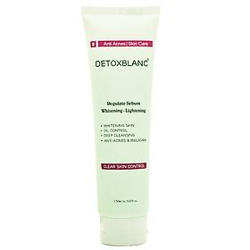 Sữa Rửa Mặt Trắng Da Clear Skin Control Detox BlanC(150ml) - Ngăn Chặn Mụn, Ngừa Nám, Làm Sạch Sâu, Thu Nhỏ Lổ Chân Lông