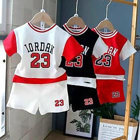 Bộ quần áo thể thao chất cotton co giãn 4 chiều cho bé trai, bé gái  từ 8 đến 18kg ( 1 tuổi đế 5 tuổi)