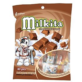 Kẹo viên Milkita hỗn hợp vị Chocolate (Bịch 30 viên)