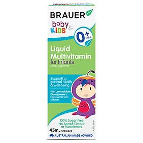 Hình ảnh Vitamin tổng hợp Brauer Úc cho trẻ sơ sinh (45ml)