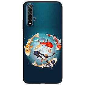 Ốp lưng in cho Huawei Nova 5T Mẫu Koi Vây Quanh