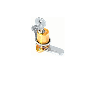 Ổ khoá tủ Việt Tiệp 03204 chất liệu đồng inox màu vàng trắng dùng cho các loại cửa tủ bằng gỗ