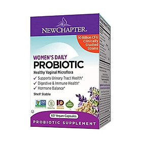 New Chapter Probiotic All-Flora, 60ct (2 Month Supply) for Advanced Immune Support with Prebiotics + Postbiotics for Women and Men + Saccharomyces Boulardii + 100% Vegan + Non-GMO + Shelf Stable