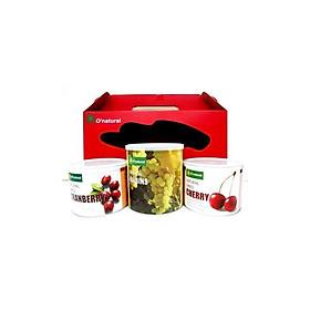 Hộp quà hoa quả sấy tự nhiên O'natural G (3 lọ)