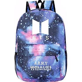 Balo BTS galaxy Army túi đựng laptop đi học thiết kế độc đáo in hình nhóm nhạc Hàn quốc
