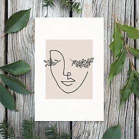Tranh Poster Phong cách tối giản, Bohemian, Lady, Lifestyle, Fashion, Minimalism, Pastel, SOYN PTK018