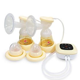 Máy hút sữa điện đôi Kichilachi cao cấp, chất liệu PPSU, cảm ứng, sạc tích điện, 9 cấp lực hút