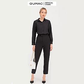 Quần tây nữ cơ bản lưng nhọn GUMAC QB756