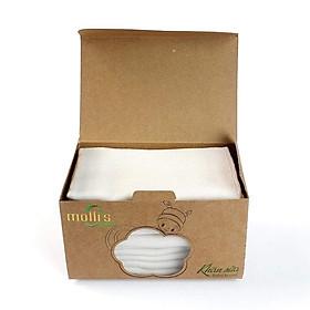 Khăn xô (khăn sữa) hữu cơ Mollis (Set 10c 30x30cm)