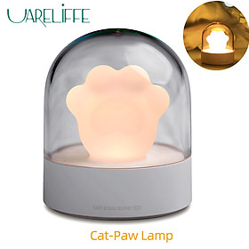 Uareliffe Night Light Cat Claw Shape Design Touch Musical LED Ambient Lights Three Speeds Brightness Adjustable Mini Portable Decorative Bedside Lamp For Girls Gift