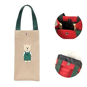 Túi đựng bình nước ly giữ nhiệt chống nước vải canvas vải bố