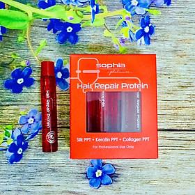 Huyết thanh Sophia Platinum Hair Repair Protein phục hồi tóc hư tổn siêu mượt Hàn Quốc 13ml x10
