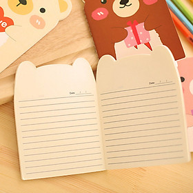 Combo 2 Sổ tay hình gấu dễ thương cute - Giao màu ngẫu nhiên