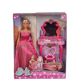 Đồ Chơi Trẻ Em Búp Bê Bàn Trang Điểm Dành Cho Bé Yêu STEFFI LOVE Fairytale Beauty Table 105733197 - Hàng Chính Hãng