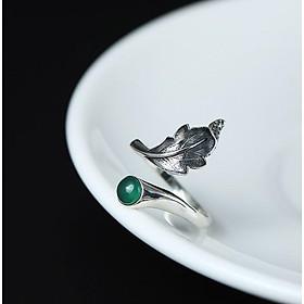 Nhẫn bạc nữ hình chiếc lá N024