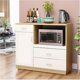 Kệ tủ bếp KB10-1 để lò nướng để lò vi sóng đồ nhà bếp nồi cơm điện loại tốt mã gỗ MDF lõi xanh chống ẩm chống nước
