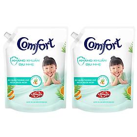 Combo 2 Nước xả vải em bé Comfort Kháng Khuẩn Dịu Nhẹ Túi 2.4L